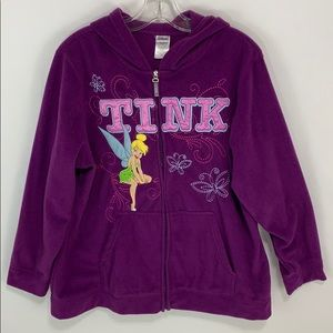 Disney purple Tinkerbell zip up fleece jacket EUC